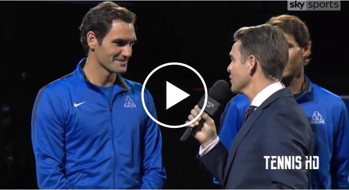 """Roger Federer """"Je ne peux pas le dire mais …"""" – Laver Cup  2017"""