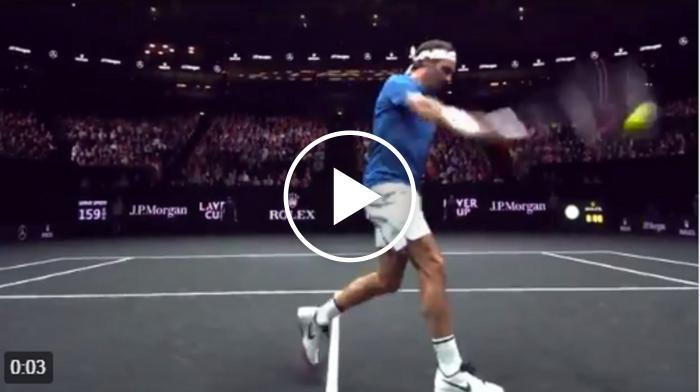 Impressionnant: Federer volley cam