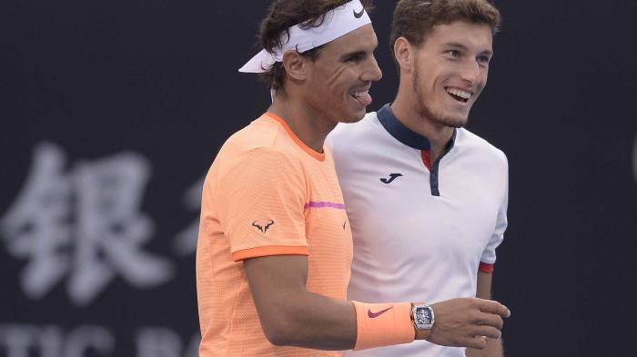 Carreno Busta rejoint Nadal et deux autres joueurs pour Abu  Exposition Dhabi