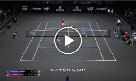 Point fou entre Nadal / Berdych vs Sock / Kyrgios