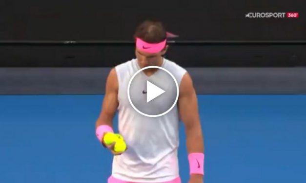 Rafael Nadal obtient une violation de temps avant de commencer le  rencontre