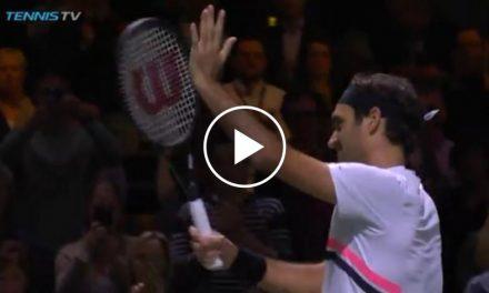Federer vs Bemelmans MATCH POINT