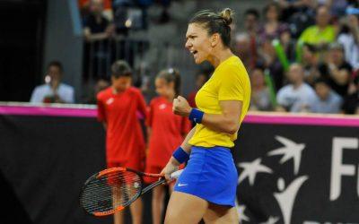 Les éliminatoires de la Fed Cup: Simona Halep aligne la Roumanie à 2-0  conduire
