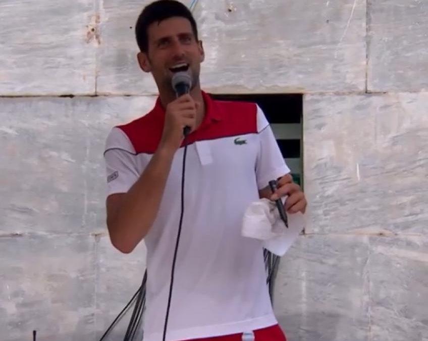 Novak Djokovic présente un spectacle au stade Pietrangeli – 2018  Rome