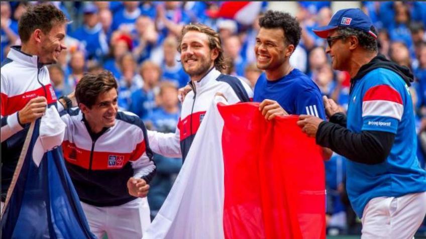 Yannick Noah réfléchit à son temps avec la Coupe Davis française équipe