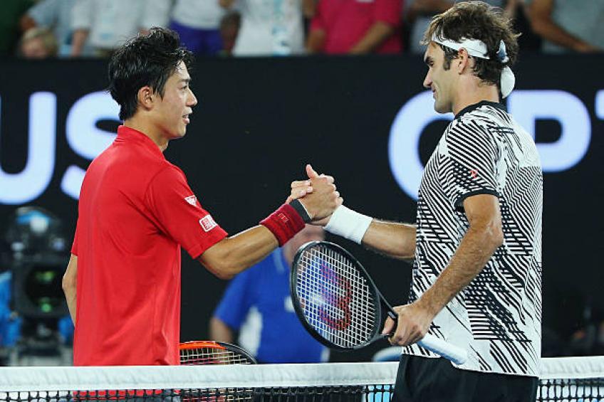 Nishikori prêt à affronter Roger Federer: «Maintenant, je suis plus confiant, plus frais '