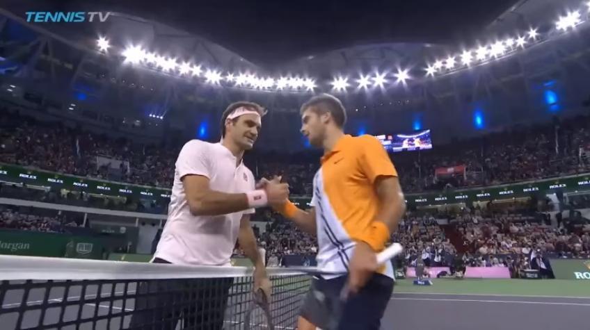 Borna Coric bat Roger Federer – Match Point et Points forts