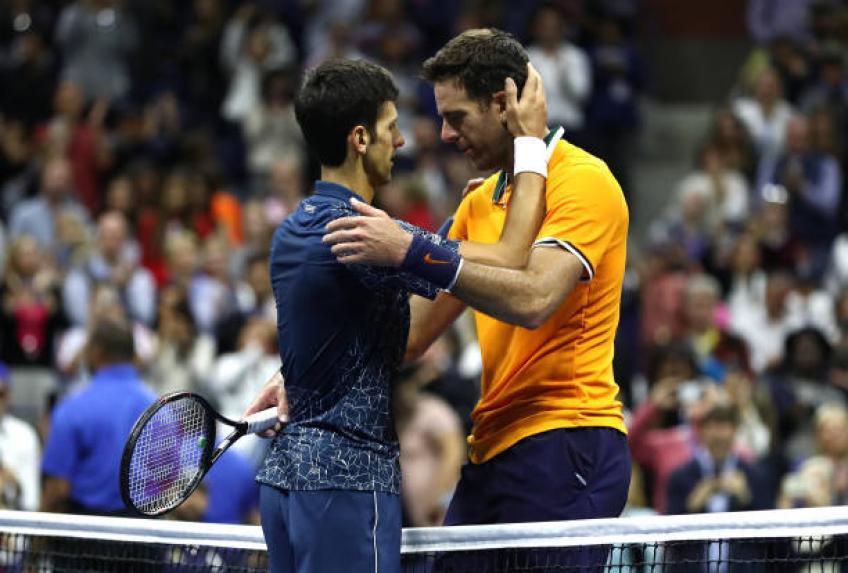Novak Djokovic révèle une conversation privée avec Juan Martin del Potro