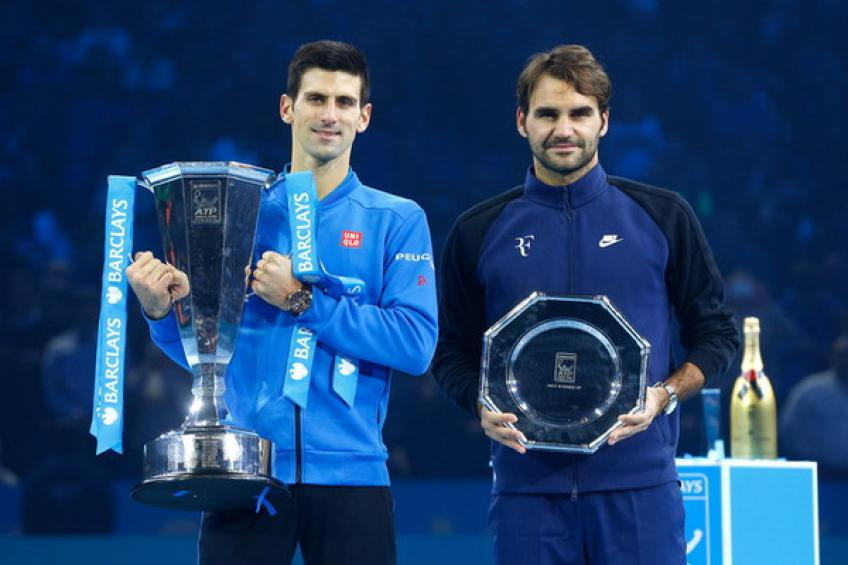 Roger Federer et Novak Djokovic en tête du record de la finale ATP graphiques