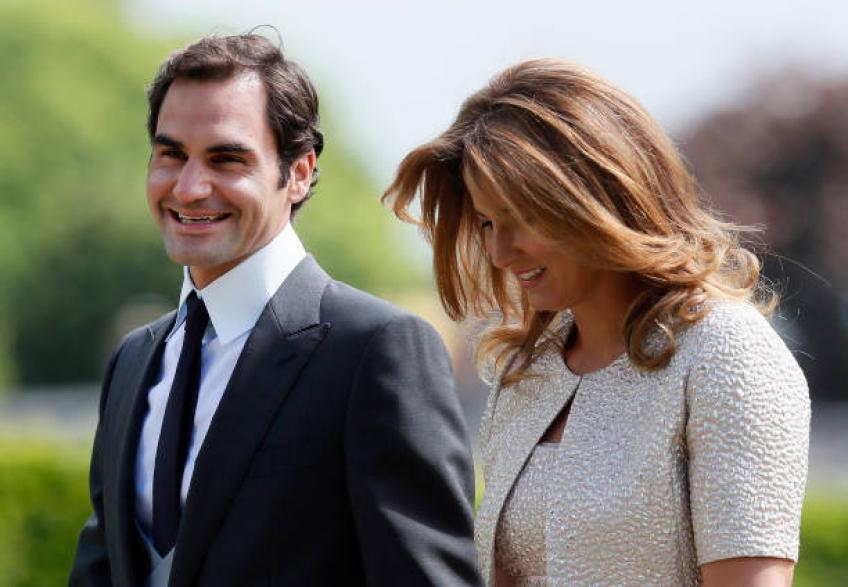 Roger Federer et son épouse Mirka rencontrent Pippa Middleton et James Matthews