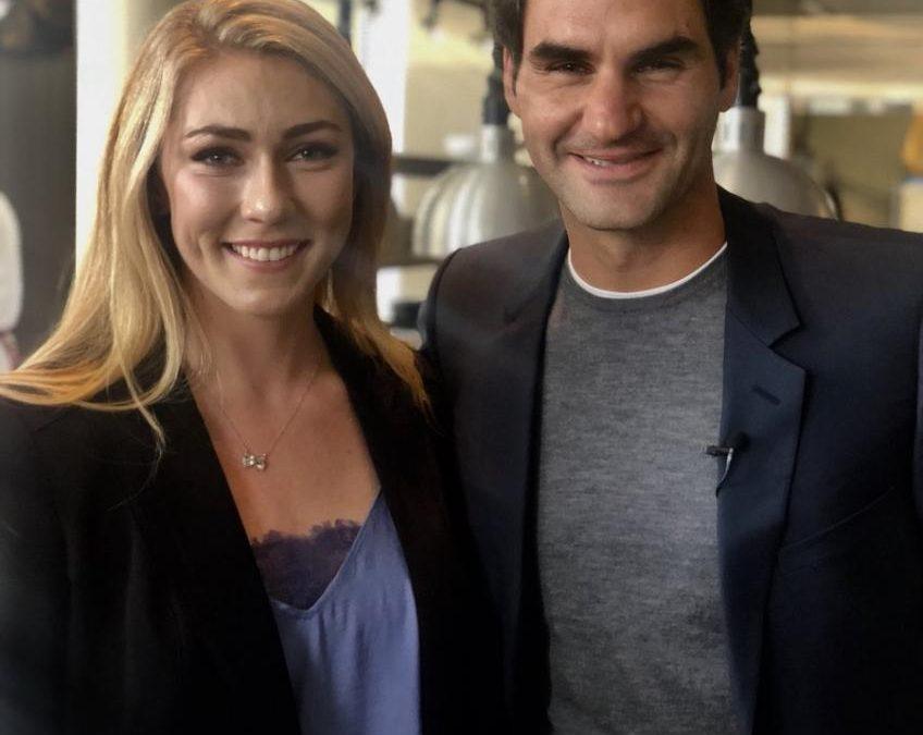 Mikaela Shiffrin impressionné par Roger Federer humanité