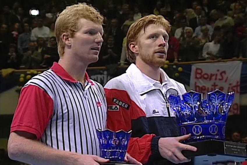 Finale ATP 1992: Boris Becker en tête du classement de Jim Courier A son anniversaire