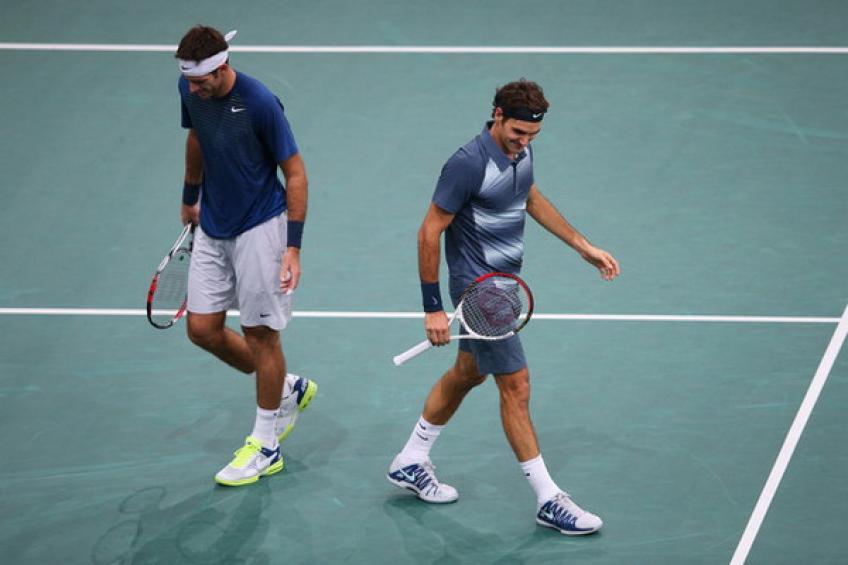26 novembre 2009: Roger Federer, Juan Martin del Potro et calculs