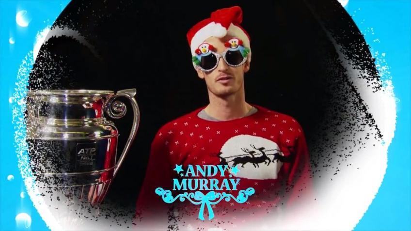 Andy Murray pose avec le père Noël