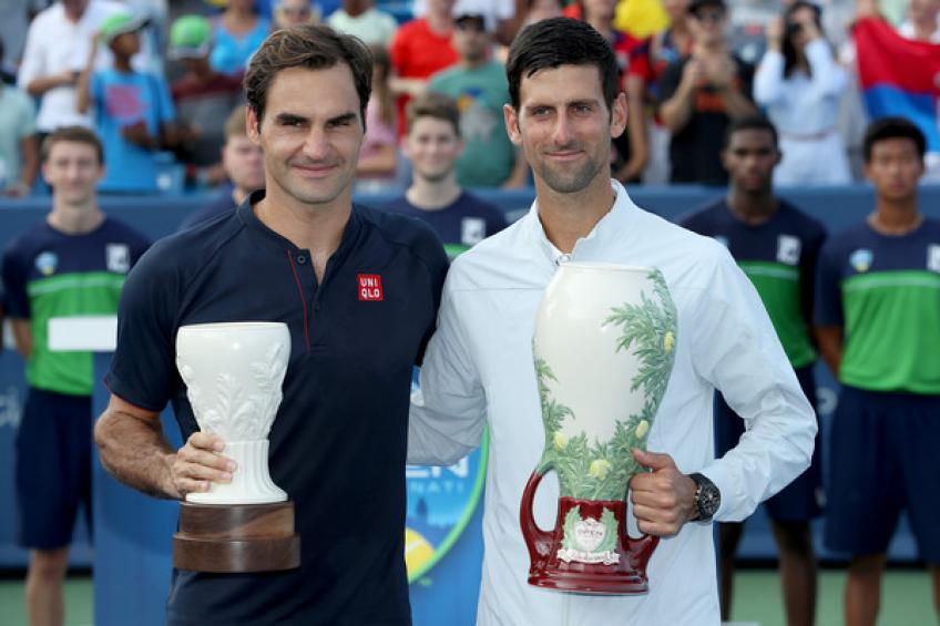 Révision 2018: Novak Djokovic et Roger Federer en tête tableaux de terrain