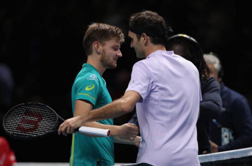 Goffin: 'Je n'oublierai jamais l'accueil que j'ai eu avant de faire face à Roger Federer'