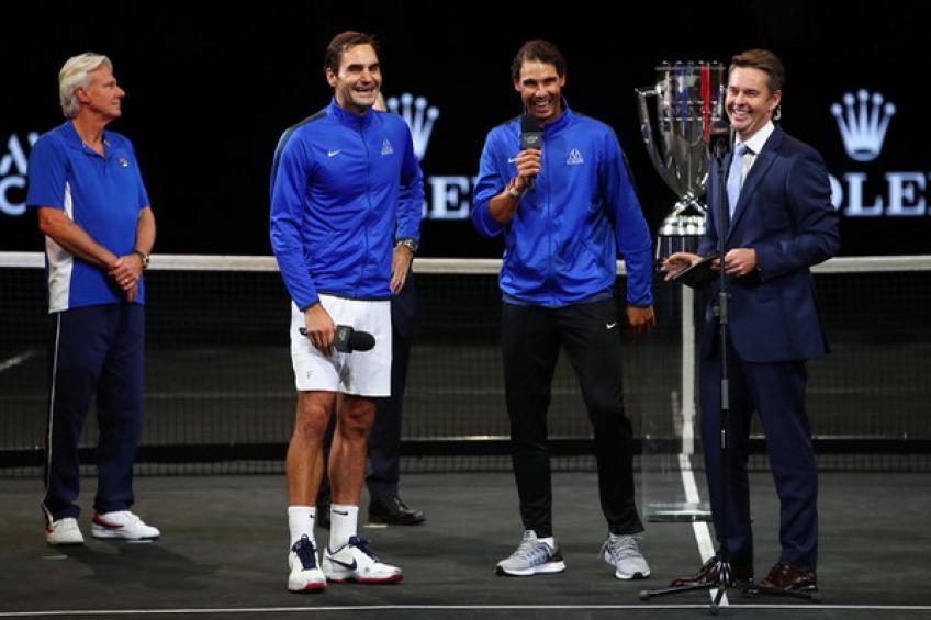 Roger Federer et Rafael Nadal vont faire équipe à 2019 Laver tasse