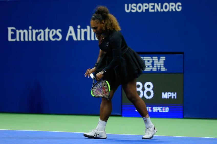 Casser la raquette n'est pas le meilleur moyen de relâcher la colère, déclare Serena Williams