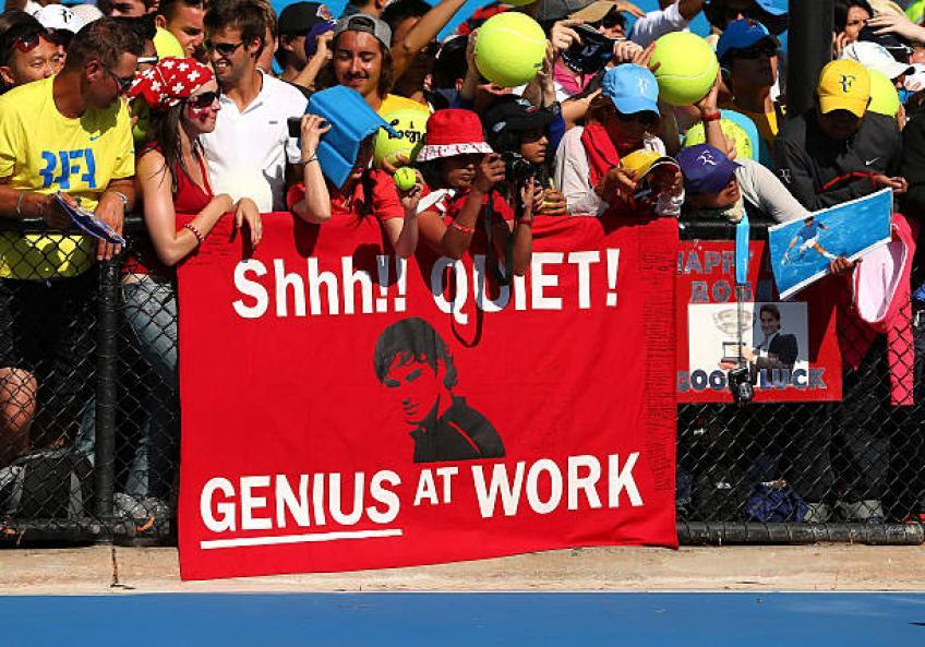 L'adoration envers Roger Federer est unique, déclare un fan