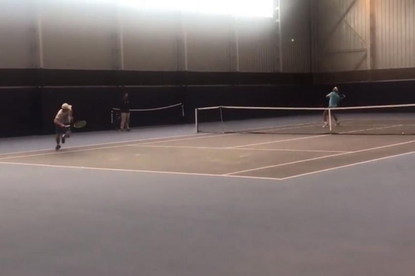 Rafael Nadal et Casper Ruud s'entraînent à Rafa Nadal Académie