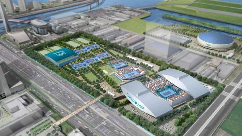 Le terrain de tennis pour les Jeux olympiques de Tokyo fait face à un retard