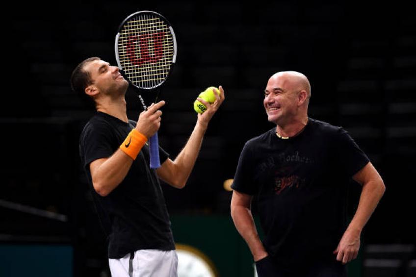 Grigor Dimitrov parle beaucoup du nouvel entraîneur Andre Agassi après la victoire de l'AO