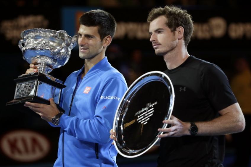 Novak Djokovic et Andy Murray préparent le match d'entraînement Margaret Court Arena