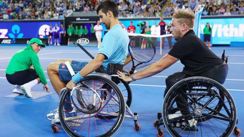 Novak Djokovic inspiré par Dylan Alcott