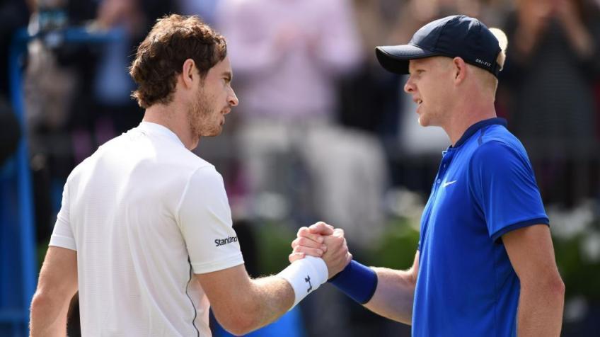 """Kyle Edmund parle beaucoup de son """"plus grand modèle"""" Andy Murray"""