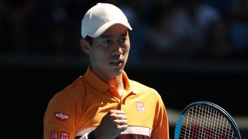 Kei Nishikori se penche sur la victoire de l'Australian Open sur Joao Sousa