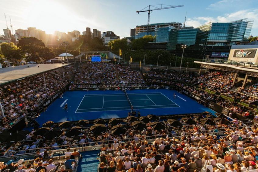 L'un des stands de l'ASB Tennis Arena pourrait accueillir David Ferrer prénom